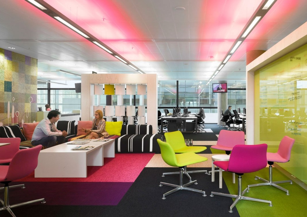 Four tips for designing a better office atmosphere bk for Unique office interiors